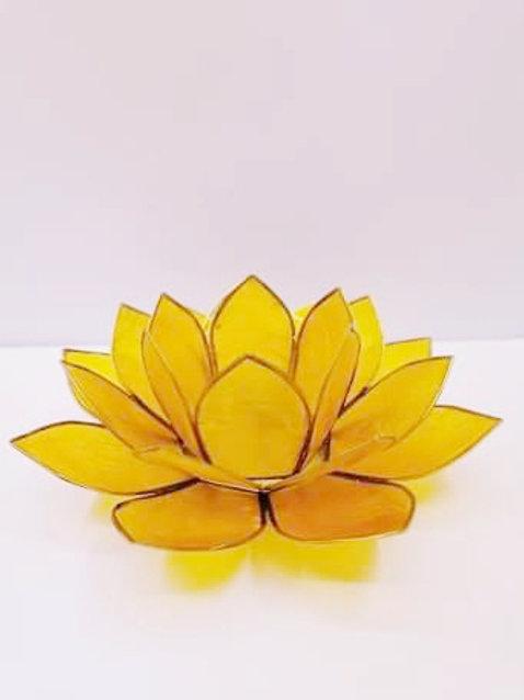 Yellow chakra Lotus T-light Holder