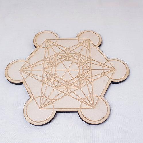 Metatron's Cube Crystal Grid 8 Inch