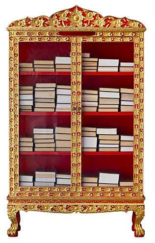 Gilded And Lacquered Book Case