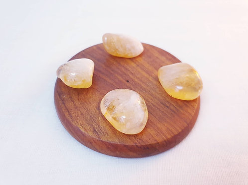 Set of 4 Citrine Tumbled Crystals