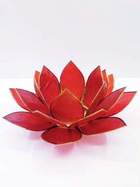 Red Lotus Flower T-light Holder