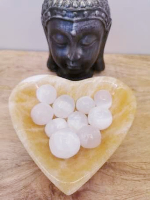 Orange Calcite Heart Bowl