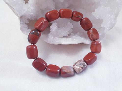 Red Jasper Tumbled Bracelet