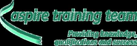 "Aspire Training Team logo. ""Providing knowledge, qualifications and success."""