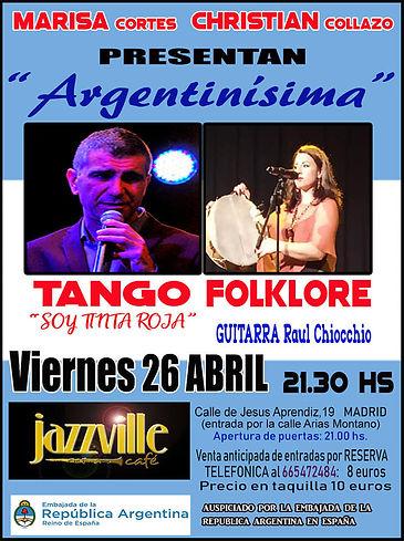 Actuación en la Sala Jazzville junto a Christian Collazo