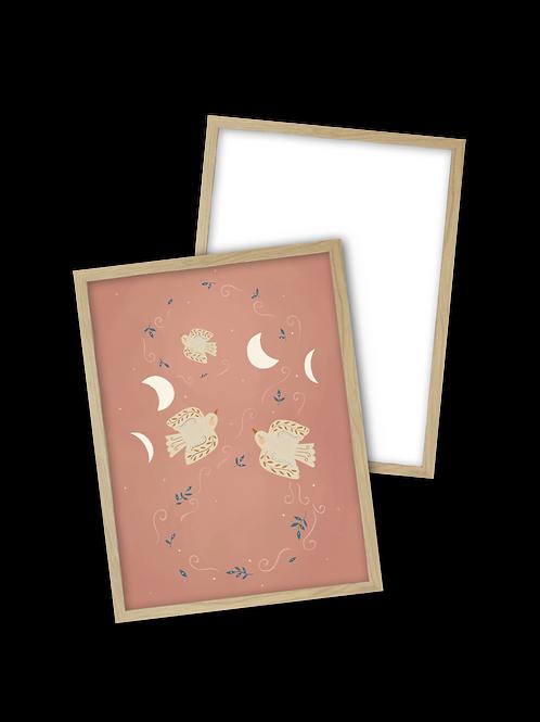 Combi deal - Print A4 zonder personalisatie + houten lijst A4