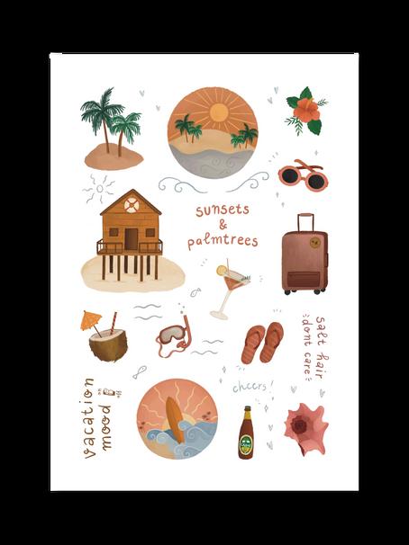 Studio Cornelia x The Adventure Book - Travel stickers