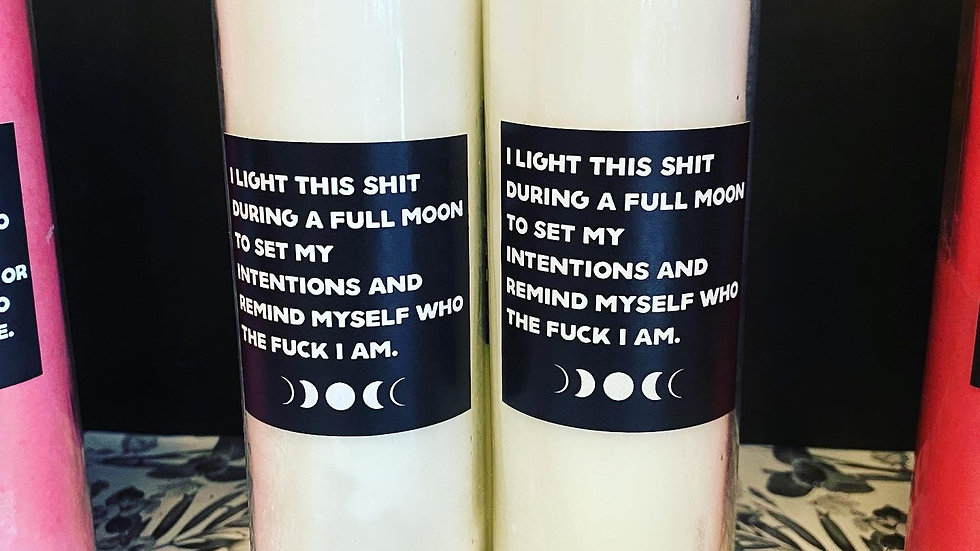 Full Moon Altar Candle