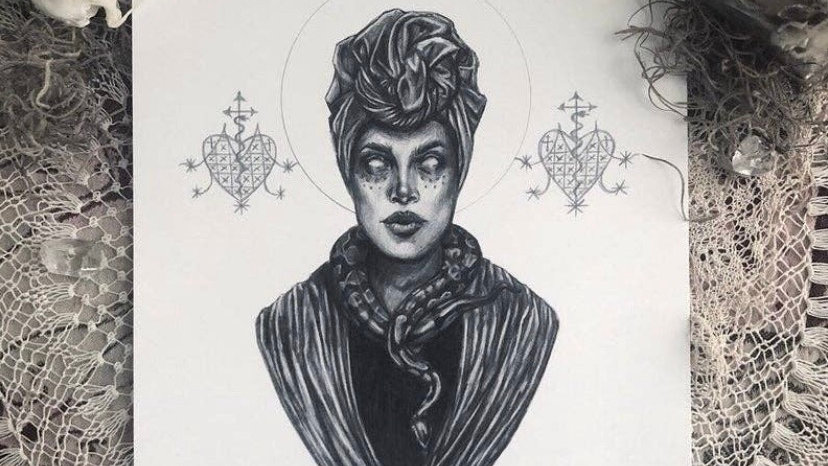 Voodoo Queen Marie Laveau 5x7