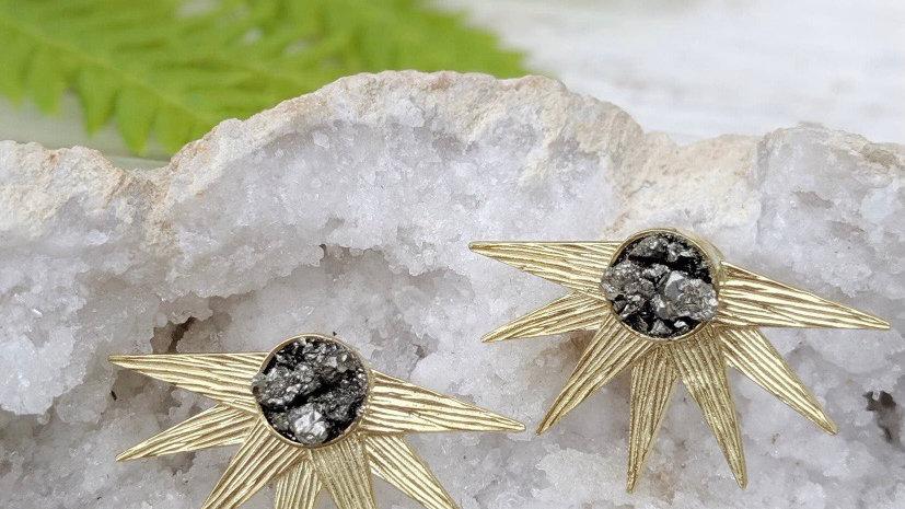 Celestial Pyrite Earrings