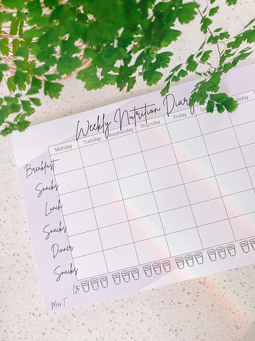 Weekly Nutrition Diary