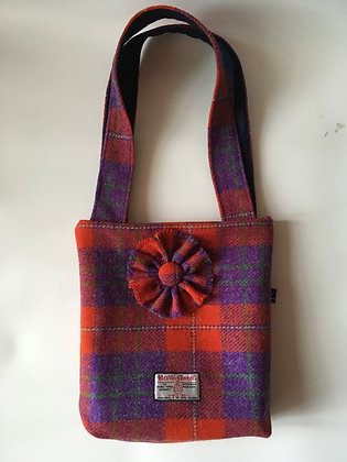 Red Purple Tartan Handbag