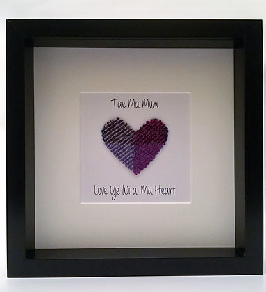 Personalised Frame: Mother's Day Choice of Heart (Black frame)