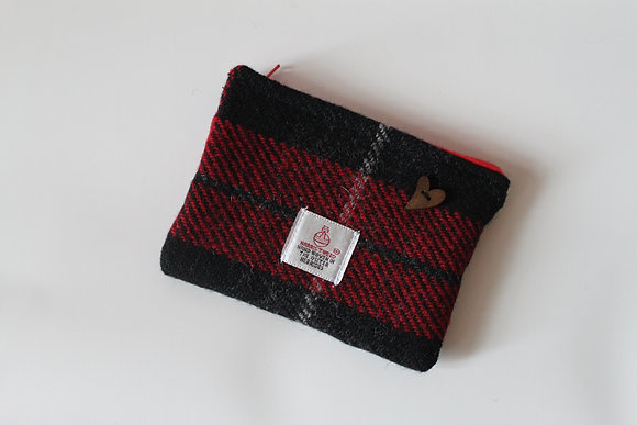 Red and Black Tartan Coin Purse