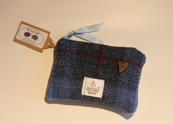 Blue Tartan Coin Purse