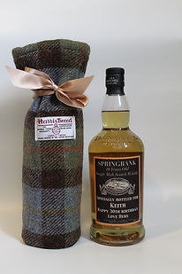 harris tweed bottle bag