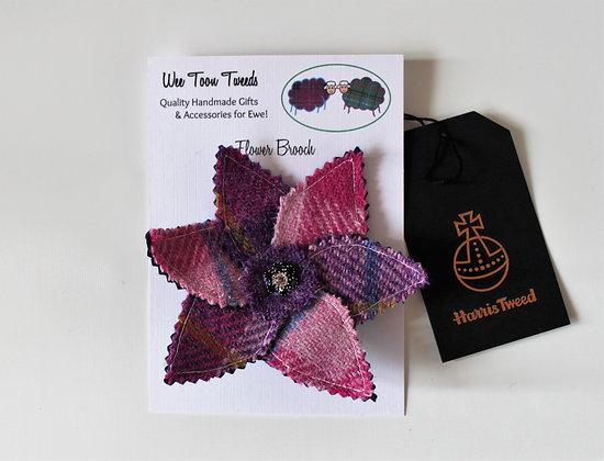 Pink Flower Brooch Style 1
