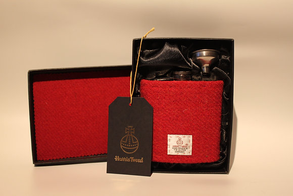Plain Red Hip Flask