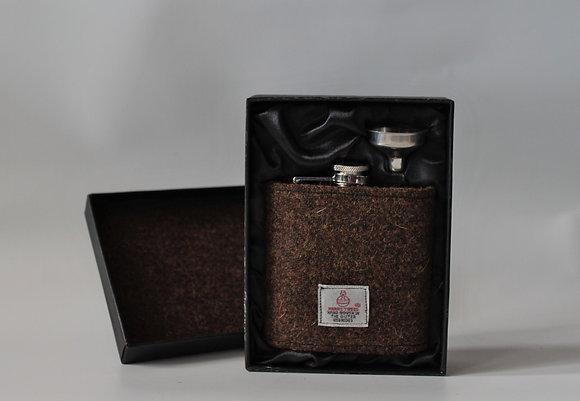 Plain Brown Hip Flask