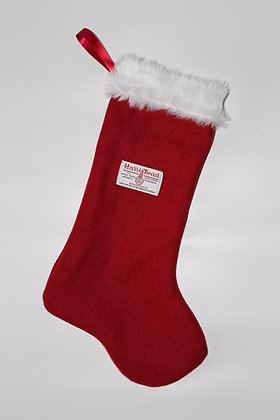 Plain Red 'Round Toe' Christmas Stocking