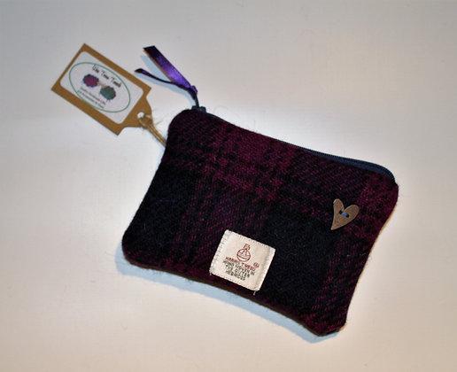 Purple and Navy Tartan Coin Purse