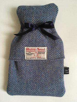 Blue Herringbone Mini Hot Water Bottle