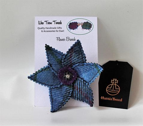 Blue Flower Brooch Style 1