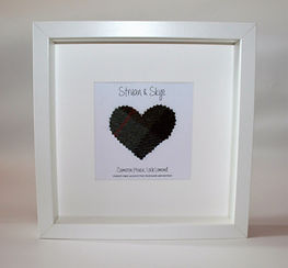 harris tweed personalised frame
