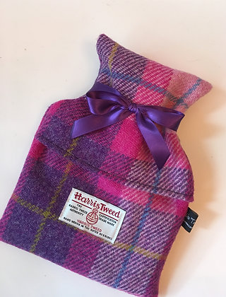 Pink Tartan Mini Hot Water Bottle