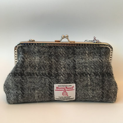 Grey Tartan Clutch Purse