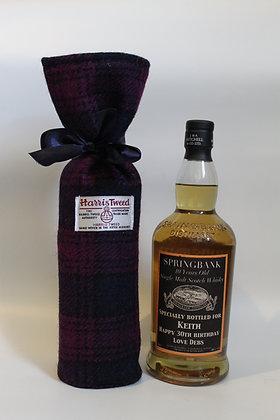 Purple and Navy Tartan Bottle Holder