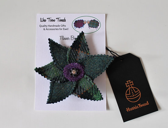 Green Flower Brooch Style 1
