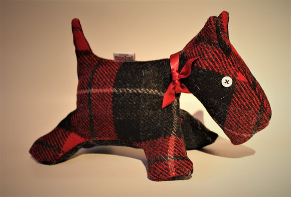Red Tartan Scottie Dog Stuffed Animals