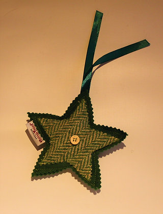 Green Herringbone Bag Charm