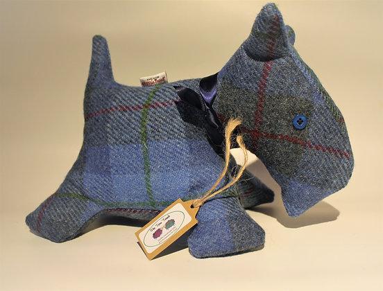 Blue Tartan Scottie Dog Stuffed Animal