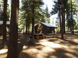 cabins with tables