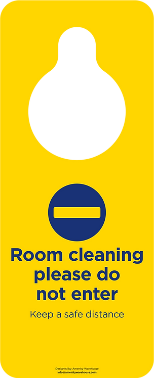Room Being Cleaned Door Hanger (Pack of 10)