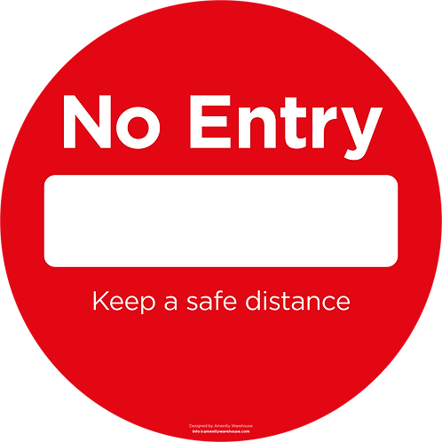 No Entry Round Sticker (Pack of 10)