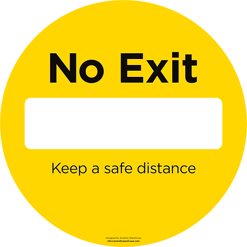 No Exit Round Sticker (Pack of 10)