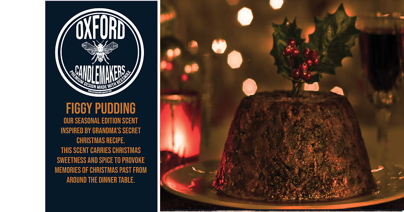 Figgy Pudding background oxford candlema