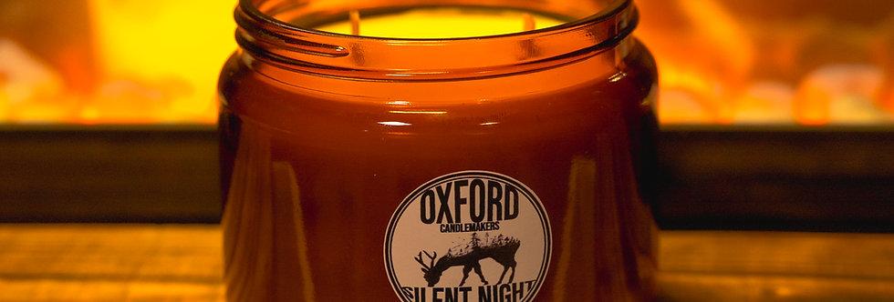 SILENT NIGHT 500ML AMBER GLASS