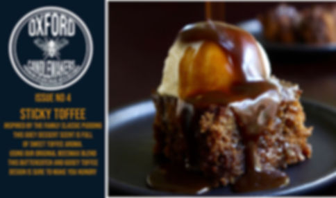 Sticky Toffee background oxford candlema