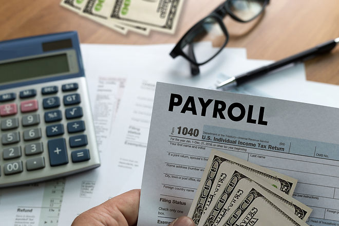PAYROLL Businessman working Financial accounting concept.jpg
