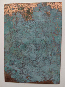Copper plate burried in the soil of Mie Japan