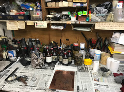 My atelier of etching