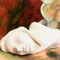 Sleeping Mojo made of terracottta