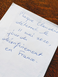 Message from France. Copper plate was dugged up on the day of the lockdown released