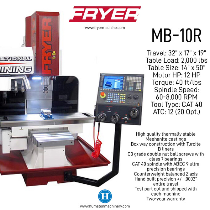 Fryer Toolroom Mill Sold