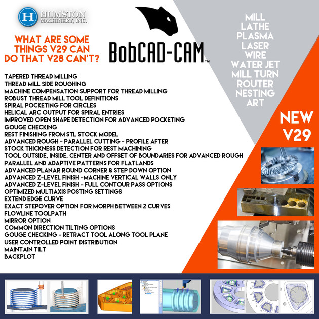 Humston Machinery now represents...BobCad-Cam