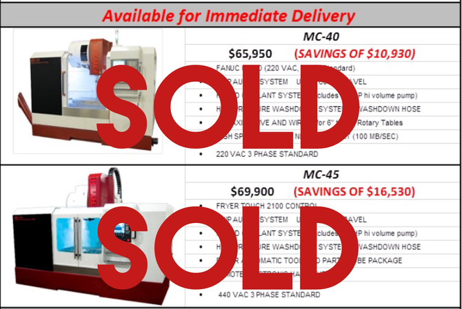 Fryer Special Value Machines Have Been Sold!